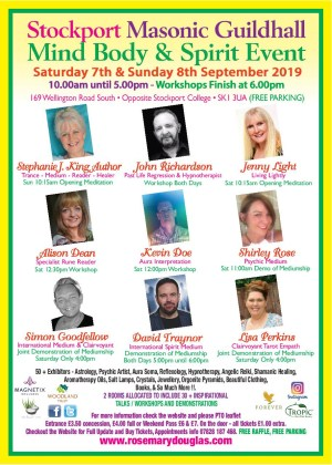 Stockport Mind Body Spirit Event – 7th & 8th September 2019