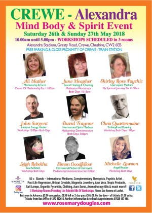Crewe Alexandra - Mind Body Spirit Event 26th/ 27th May