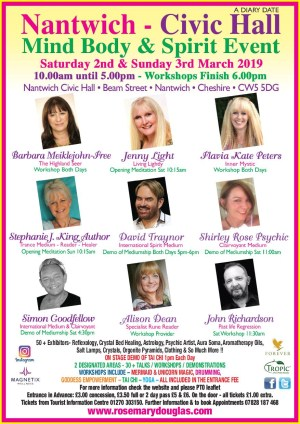 Nantwich Civic Hall - Mind Body Spirit Event 2nd / 3rd March 2019