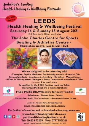 Leeds Health Healing & Wellbeing Festival 14 & 15 August 2021