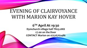 Evening of Clairvoyance With Marion Kay Hover
