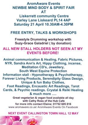 AromAware Events NEWBIE Mind Body & spirit Fair