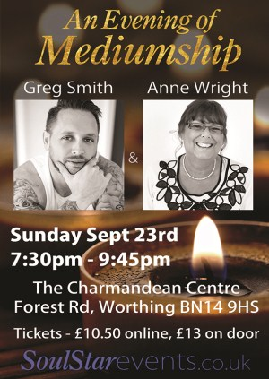 An Evening of Mediumship with Greg Smith and Anne Wright