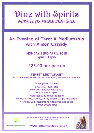 An Evening of Tarot & Mediumship with Alison Cassidy