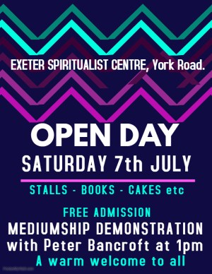 EXETER SPIRITUALIST CENTRE - OPEN DAY