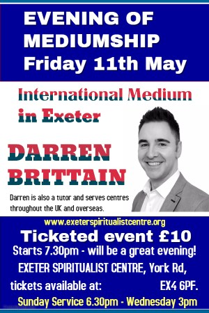EXETER - Evening with International Medium Darren Brittain