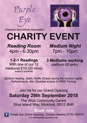 Charity Medium Night supporting Sarcoidosis Association