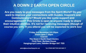 Down 2 Earth Open Circle