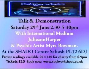 Spiritualism Talk & Demonstration