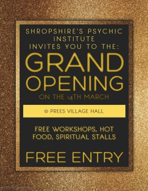 Shropshire's Psychic Institute, Grand Opening Day