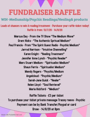 Psychic/Mediumship Readings & Treatments Raffle